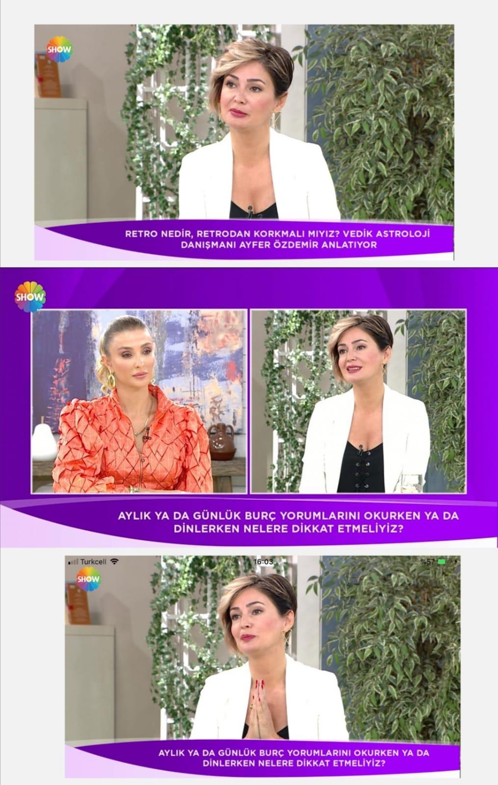 Ayfer ÖZDEMİR, 24.10.2020 günü Show TV Hayat Güzeldir programında